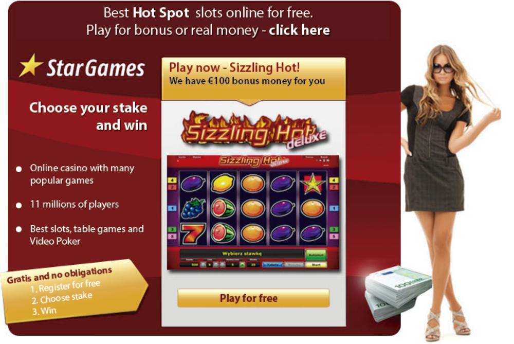 free online casino games sizzling hot free