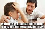 Playing football for england memes