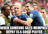 Memphis depay good player memes