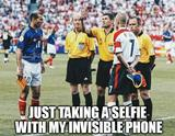 Invisible phone selfie memes