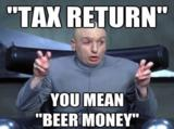 Tax return meme