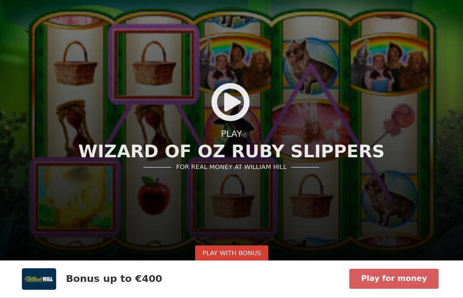 The Wizard of Oz: Ruby Slippers Slot Machine Online ᐈ WMS™ Casino Slots