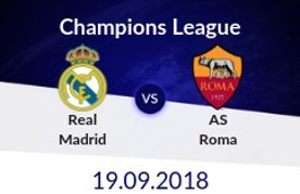 Real madrid vs as roma betting odds