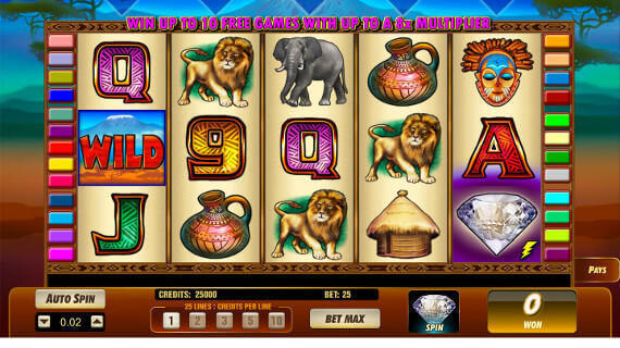 Play Serengeti Diamonds slot machine online