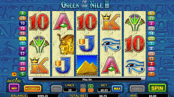 Play Queen of the Nile II slot machine free Mr Green Casino