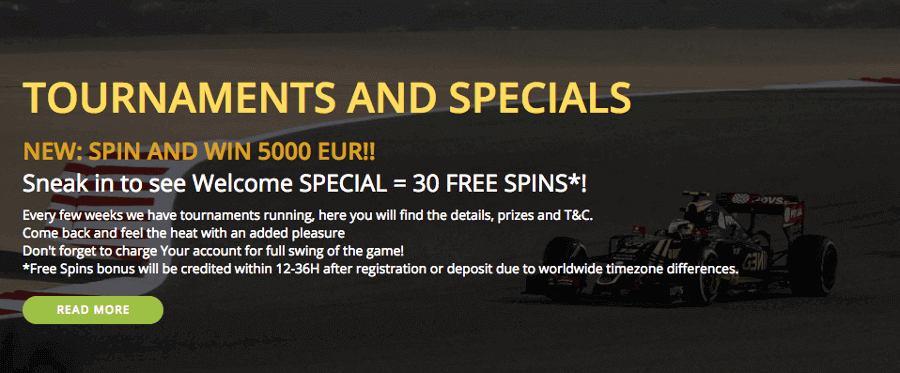 Babe Casino Special Bonus Tournament Free Spins