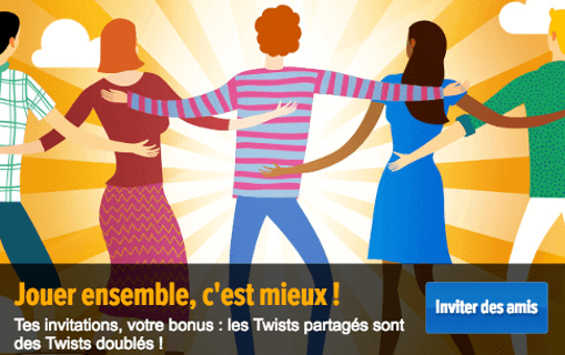 Twists doublés le bonus sur Gametwist