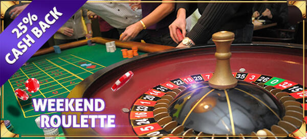 Mr Slot Casino Weekend Roulette Cashback promotion